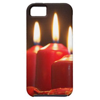 Rote Kerzen einer Einführung winden mit Hülle Fürs iPhone 5