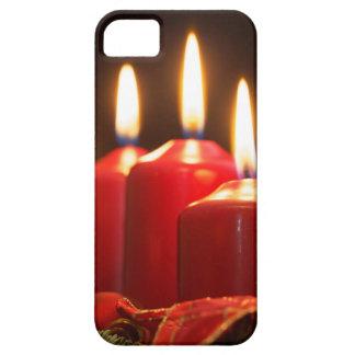Rote Kerzen einer Einführung winden mit iPhone 5 Etui