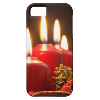 Rote Kerzen einer Einführung winden mit iPhone 5 Hülle