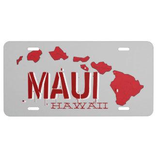 Rote Kfz-Kennzeichenabdeckung Mauis Hawaii US Nummernschild