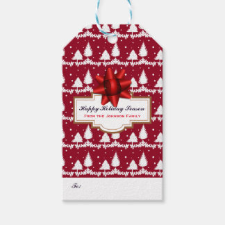 Rote Kiefer-Stechpalme und Schnee Geschenkanhänger
