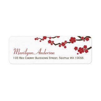 Rote Kirschblüte-Blumen-Kirschblüten-asiatische