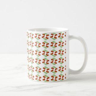Rote Kirschen Kaffeetasse