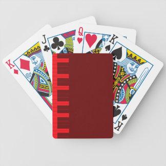 Rote Klavier-Schlüssel Bicycle Spielkarten
