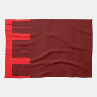 Rote Klavier-Schlüssel Geschirrtuch