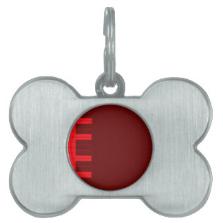 Rote Klavier-Schlüssel Tiermarke