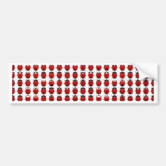 Rote kleine Marienkäfer Autoaufkleber