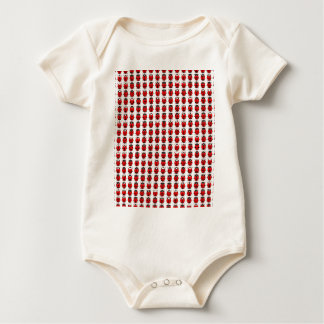 Rote kleine Marienkäfer Baby Strampler