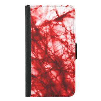 Rote knotige Form Geldbeutel Hülle Für Das Samsung Galaxy S5