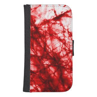 Rote knotige Form Phone Geldbeutel