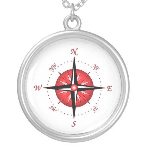 Rote Kompass-Rose Personalisierter Schmuck
