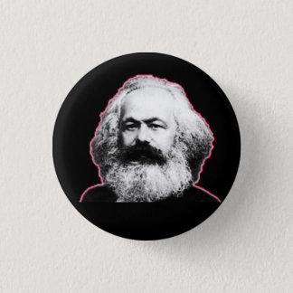 Rote Kontur/Schwarzes Karl Marx Runder Button 2,5 Cm