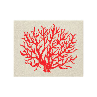 Rote Korallen-Strand-Damm-Kunst-Dekoration Leinwanddruck