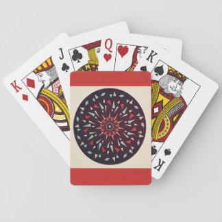 Rote kosmische geometrischer Entwurfs-Spielkarten Spielkarten