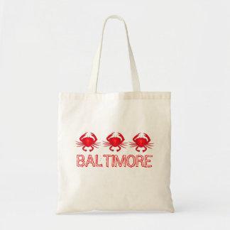 Rote Krabbe Baltimore Maryland kratzt Tragetasche