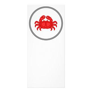 Rote Krabbe - Fisch-Garnelen-Krabben-Sammlung Werbekarte