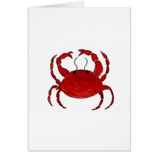 Rote Krabbe Karte