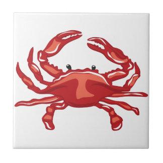 Rote Krabbe Keramikfliese