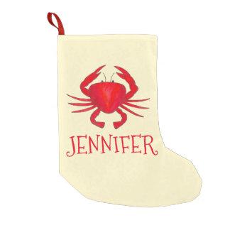Rote Krabben-personalisiertes Weihnachten Kleiner Weihnachtsstrumpf