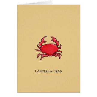 Rote Krabbensand Krebs-Tierkreis-Geburtstags-Karte Karte