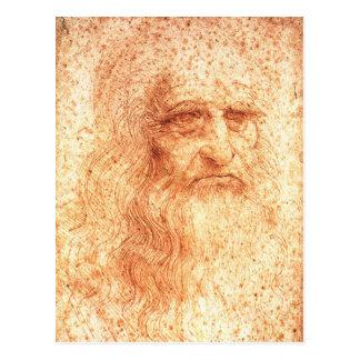 Rote Kreide-Leonardo da Postkarte