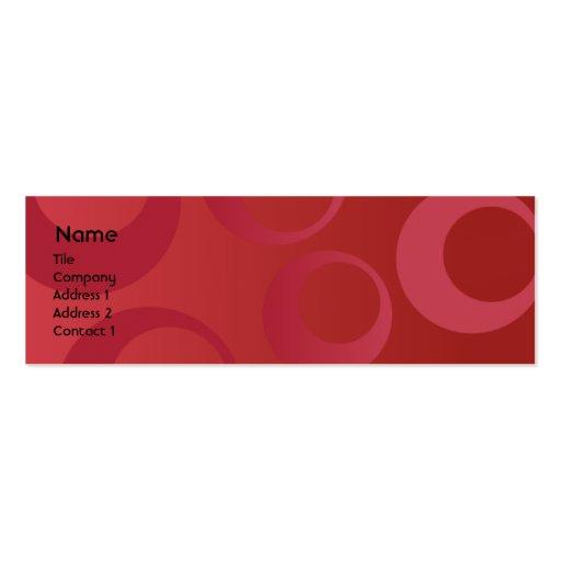 Rote Kreise - dünn Visitenkartenvorlage
