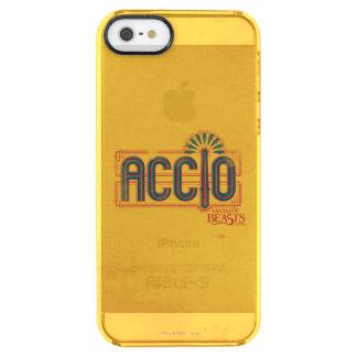 Rote Kunst-Deko Accio Bann-Grafik Durchsichtige iPhone SE/5/5s Hülle