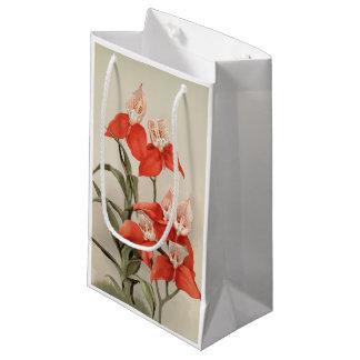 Rote kunst-Geschenktasche Orchidee DISA Uniflora Kleine Geschenktüte