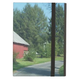 Rote ländliche Scheune