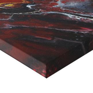 Rote Lava Leinwanddruck