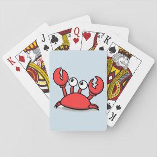 Rote lebhafte Krabbe Spielkarten