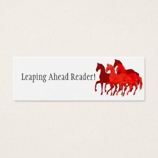 Rote lesenbelohnung der Aquarell-Pferd| Mini Visitenkarte