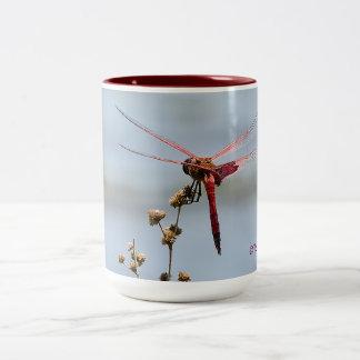 Rote Libellen-Kaffee-Tasse Zweifarbige Tasse