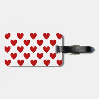 Rote Liebe-Herzen auf Weiß, Reise-Gepäck Gepäckanhänger