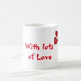 Rote Liebe Kaffeetasse