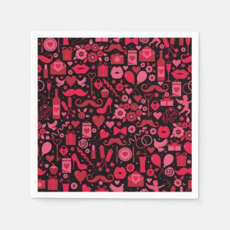 Rote Liebe Papierserviette