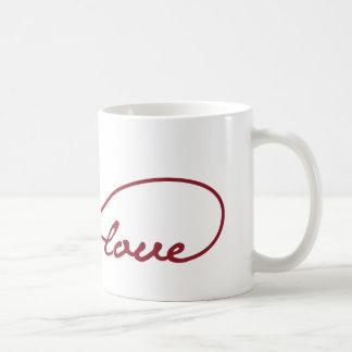 Rote Liebe-Unendlichkeits-Tasse