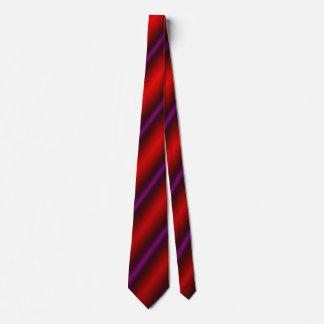 Rote, lila und schwarze Laser Ähnliche Linie Personalisierte Krawatten