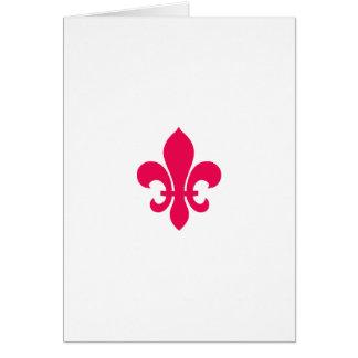 """""""Rote Lilie"""" Geburtstagskarte Karte"""
