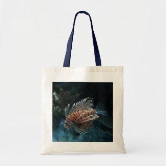 Rote Lionfish-Taschen-Tasche Tragetasche