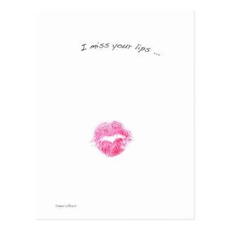 Rote Lippen Postkarte