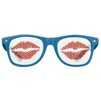 Rote Lippen Retro Sonnenbrillen