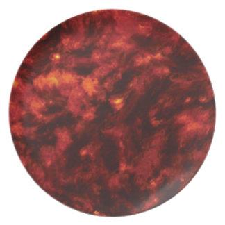 rote Löcher oder Stellen Melaminteller