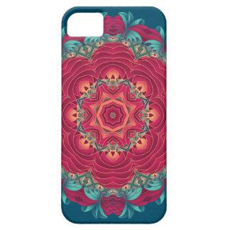 Rote Lotus-Mandala Etui Fürs iPhone 5