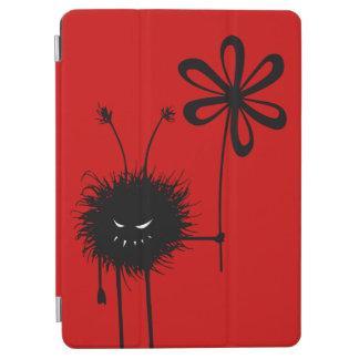 Rote lustige gotische schlechte Blumen-Wanze iPad Air Hülle