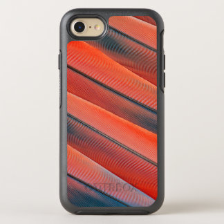 Rote Macaw-Feder abstrakt OtterBox Symmetry iPhone 8/7 Hülle