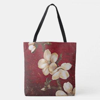 Rote Mandel-Blüten-Taschen-Tasche Tasche