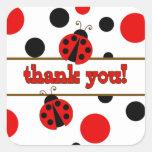 Rote Marienkäfer danken Ihnen Aufkleber