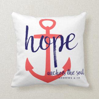 Rote Marine-Seehoffnung verankert den Soul-Vers Kissen