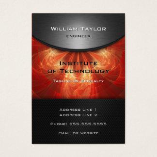 Rote metallische Eleganz mit QR Codevertikale Visitenkarte